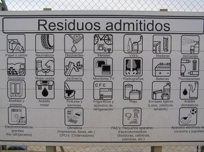 residuos admitidos